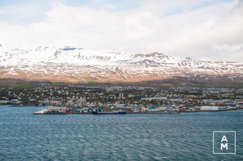 The View of Akureyri from across the Bay!